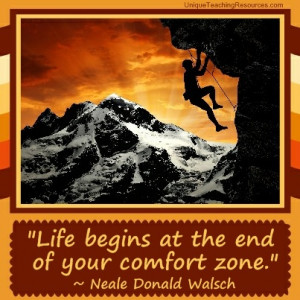 Famous Motivational Quotes - Life begins at the end of your comfort ...
