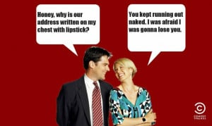 Dharma and Greg ~ Quotes ~ Address in Lipstick :)