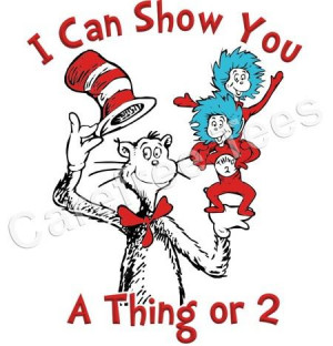 Dr. Seuss Cat in the Hat Thing 1 & Thing 2 SO CUTE!!