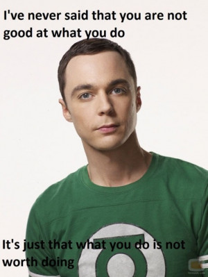 Best Sheldon Cooper quote!