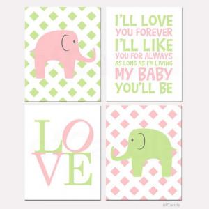 ll Love You Forever Quote Elephant Wall Art Print par ofCarola, $50 ...