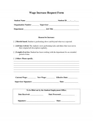 Wage Increase Request Form Template