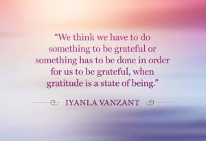 We think we have to do something to be grateful or something has to ...