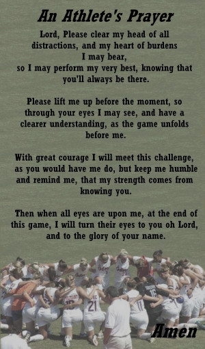 Athletes Prayer