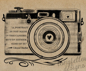 Edward Steichen Quote - Retro Camera - Kraft / Grain Look 11 x 14 ...