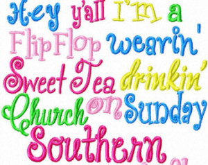 Southern Girl Sayings Flop Wearing Southern Girl