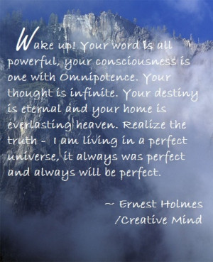 Ernest Holmes quote - Wake up!