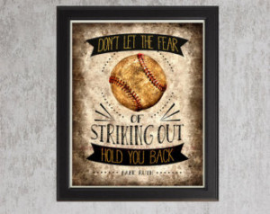 baseball quotes for girls baseball sports decor vintage