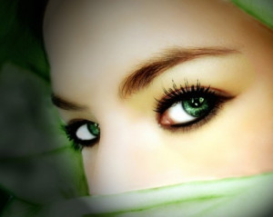 art, beautiful, eyes, face, green, green eyes, hijab, mystery ...