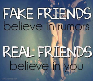 Real And Fake Friends friendship quotes