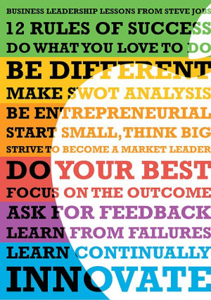 Business Leadership Lessons From Steve Jobs Quotes Print by Lab No 4 ...