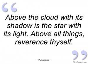 above the cloud with its shadow is the pythagoras
