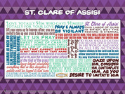 Saint Clare of Assisi Quote Wall Graphic $12.00