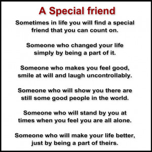 Special Friend Quotes Friend that you can count on.