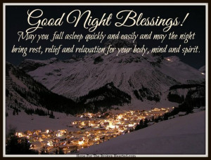 GOOD NIGHT, REST IN THE LORD'S PEACE!
