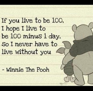 If You live to be 100, I hope I live to be 100 minus 1 day so I never ...