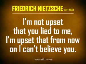 Lie Quote – Friedrich Nietzsche
