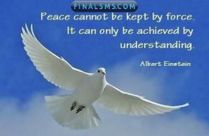 Peace cannot be kept by force ; it can only be achieved by ...