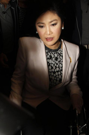 Thai Prime Minister Yingluck Shinawatra arrives at the National Anti ...