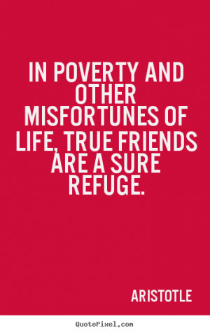 ... and other misfortunes of life, true friends.. - Friendship quotes