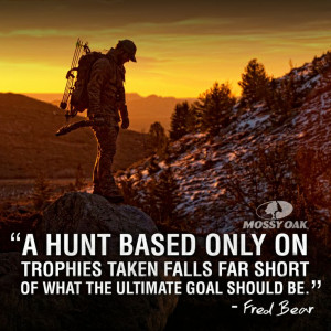 hunt based only on trophies taken falls far short of what the ...