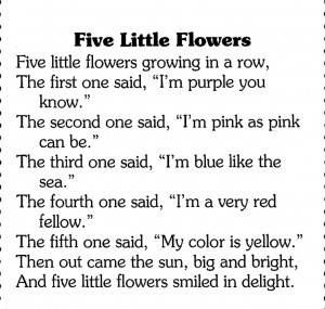Five Little Flowers - Wee poem for May Day or Spring ༻ ༺