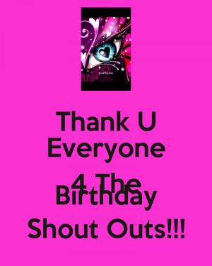 Thank Everyone The Birthday...