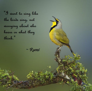 want to sing like the birds sing, not worrying about who hears or ...