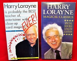 Harry Lorayne VHS Videos The Best Teacher of Close up Card Magic