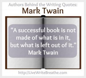 ... Writing Quotes Mark Twain via @JanalynVoigt | Live Write Breathe