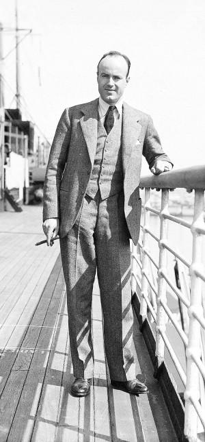 ACTON En el barco Malolo rumbo a Hawaii en 1932
