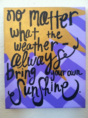 Canvas Paintings With Sayings Canvas painting - sunshine