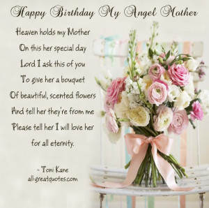 Birthday My Angel Mother – Heaven holds my Mother – Happy Birthday ...