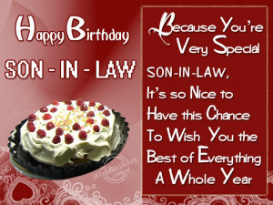 Birthday Wishes for Son In Law - Birthday Cards, Greetings
