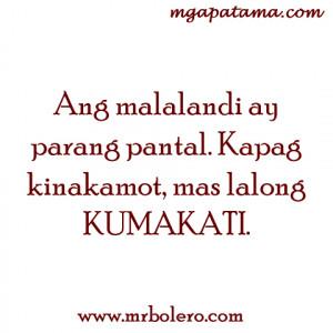 Tagalog Quotes Malandi quotes