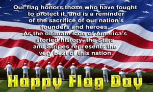 US Flag Day Greeting card and Ecard 2014