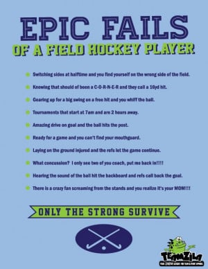 Field Hockey Sayings Epic fails of a field hockey