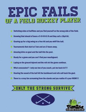 Field Hockey Sayings Epic fails of a field hockey