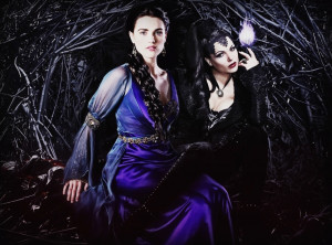 Villains Regina Evil Queen and Morgana!