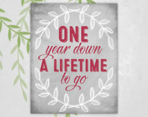 Year Dating Anniversary Quotes Printable - 1st anniversary