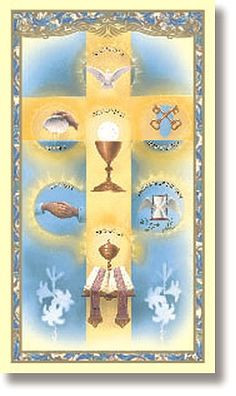 Seven Sacraments (The Seven Sacraments) Holy Card USED 2/14 More