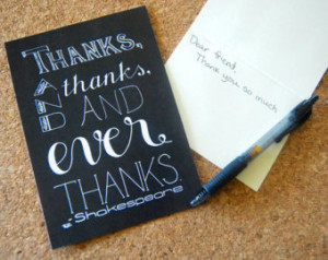 ... Thank You Art // Shakespeare Thank You Quote // Ever Thanks Saying