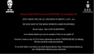 Anonymous Hackers Quotes Anonymous hacks greek ministry
