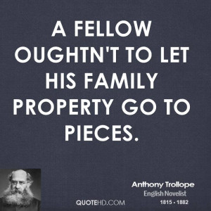 Anthony Trollope Family Quotes