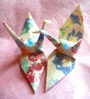 Leonard Cohen Peace Crane Wedding Cake Topper Party Favor Origami ...
