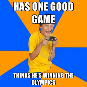 Has One Good Game Thinks He's Winning The Olympics