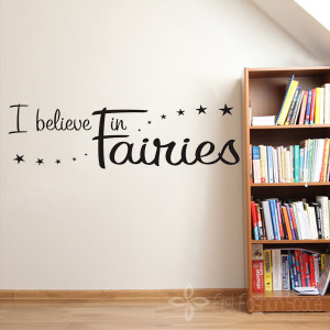 Large-Size-43-124CM-I-BELIEVE-IN-FAIRIES-Vinyl-Decal-Wall-Art-Sticker ...