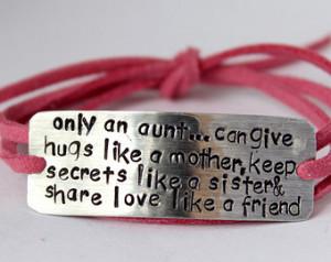 aunt bracelet, gift for aunt, aunt quote, auntie, aunt gift, aunt ...