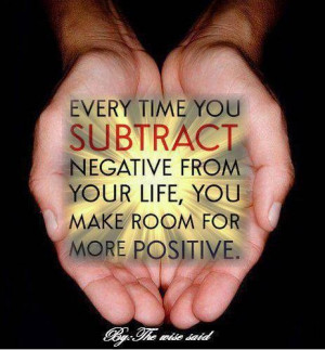 Subtract the negative from your life