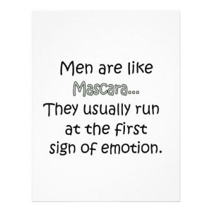 Men Are Like Mascara Letterhead...